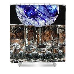 Glass On Glass Shower Curtain by Jolanta Anna Karolska