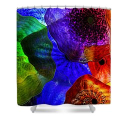 Glass Palette Shower Curtain by Kasia Bitner