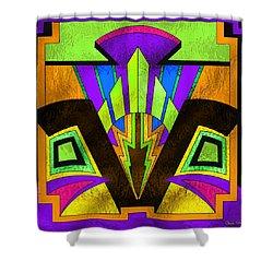 Glass Pattern 5 B Shower Curtain