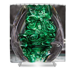 Glass Sculpture Egw  Shower Curtain by David Patterson