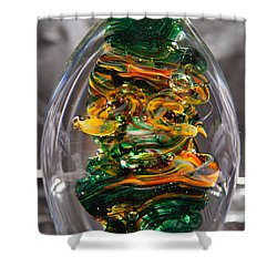 Glass Sculpture Go1  Shower Curtain by David Patterson