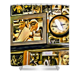 Gleasons Wall Shower Curtain by Alice Gipson