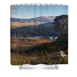 Glen Affric Panorama II Shower Curtain by Gary Eason