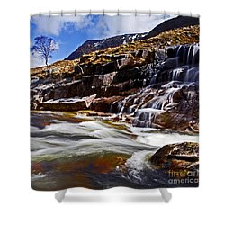 Shower Curtain featuring the photograph Glen Etive by Craig B