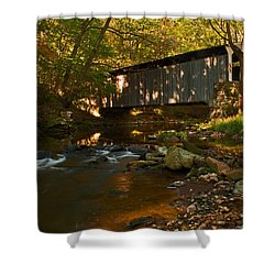 Glen Hope Covered Bridge Shower Curtain