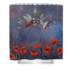 Glenda The Good Witch Has Flying Monkeys Too Shower Curtain by Randy Burns