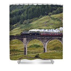 Glenfinnan Viaduct - D002340 Shower Curtain