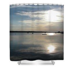Glenmore Reservoir Calm Shower Curtain by Stuart Turnbull