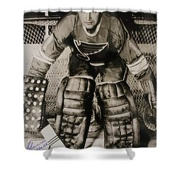 Glenn Hall Poster Shower Curtain