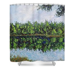 Glenoak Lake Shower Curtain by Jason Williamson
