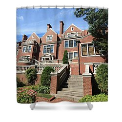 Glensheen Mansion Exterior Shower Curtain by Amanda Stadther