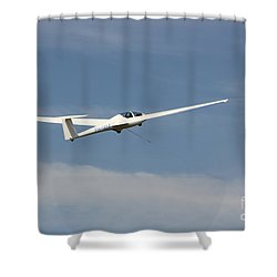 Glider In The Sky Shower Curtain