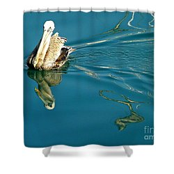 Gliding Shower Curtain by Clare Bevan