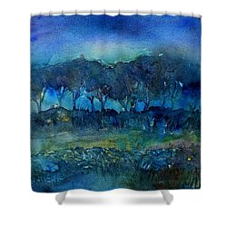 Shower Curtain featuring the painting Glimmer Of Dawn  by Trudi Doyle