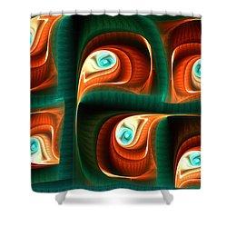 Glimpses Shower Curtain by Anastasiya Malakhova