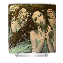 Glissando Shower Curtain by Dorina  Costras