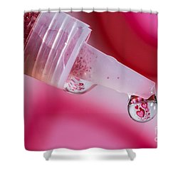 Glitter Love Drop Shower Curtain