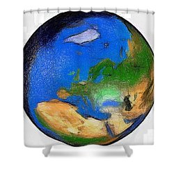 Globe 3d Picture Shower Curtain