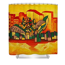 Shower Curtain featuring the painting Global Warning by Barbara St Jean