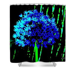 Globe Allium  Shower Curtain by Sally Simon