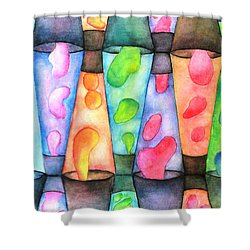 Globs Shower Curtain by Janet Immordino