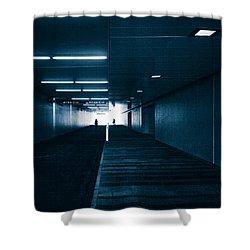 Gloomy Blue Shower Curtain