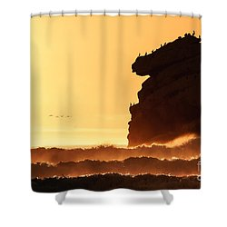 Glorious Afternoon At Morro Bay Shower Curtain