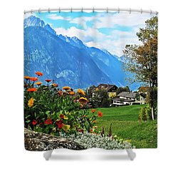 Glorious Alpine Meadow Shower Curtain