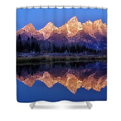 Shower Curtain featuring the photograph Glorious Morning Panorama by Benjamin Yeager