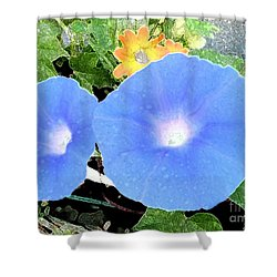 Glory Morn Shower Curtain by Ecinja Art Works