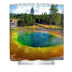 Glory Pool Yellowstone National Park Shower Curtain by Ausra Huntington nee Paulauskaite