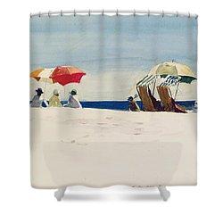 Gloucester Beach Shower Curtain by Edward Hopper
