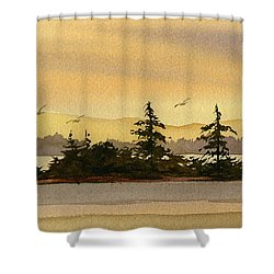 Glow Of Dawn Shower Curtain by James Williamson