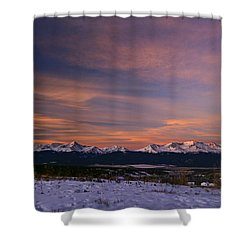 Glow Of Morning Shower Curtain by Jeremy Rhoades