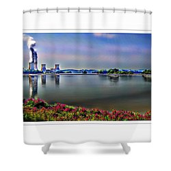 Glowing 3 Mile Island Shower Curtain