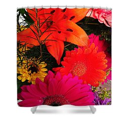 Shower Curtain featuring the photograph Glowing Bright by Meghan at FireBonnet Art