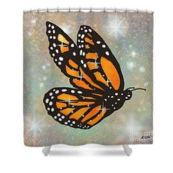 Glowing Butterfly Shower Curtain by Audra D Lemke