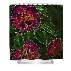 Glowing Camellia Shower Curtain