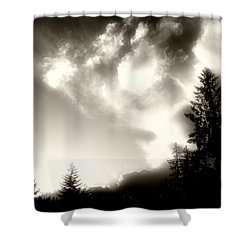 Glowing Clouds Shower Curtain by Adria Trail