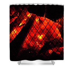 Shower Curtain featuring the photograph Glowing Embers by Darren Robinson