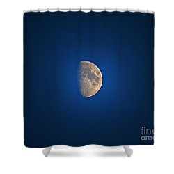 Glowing Gibbous Shower Curtain by Al Powell Photography USA