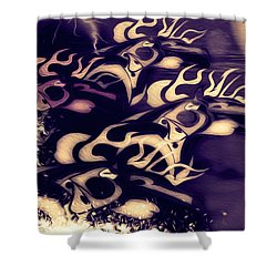Glowing Horse Series 5 Shower Curtain by Teri Schuster