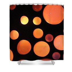 Glowing Orange Shower Curtain