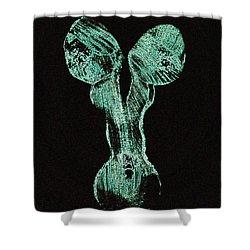 Glowing Personality Shower Curtain by Mayhem Mediums