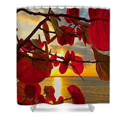 Glowing Red Shower Curtain