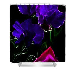 Glowing Sweet Peas Shower Curtain