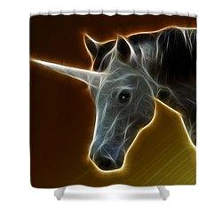 Glowing Unicorn Shower Curtain