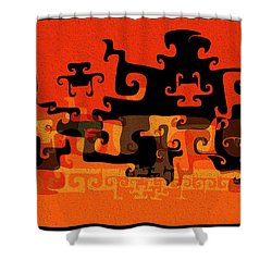 Gnarly Silhouette Parade Shower Curtain