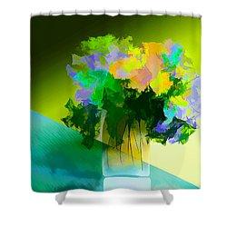 Shower Curtain featuring the digital art Go Fleur by Frank Bright