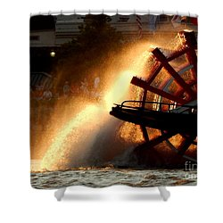 New Orleans Steamboat Natchez On The Mississippi River Shower Curtain by Michael Hoard